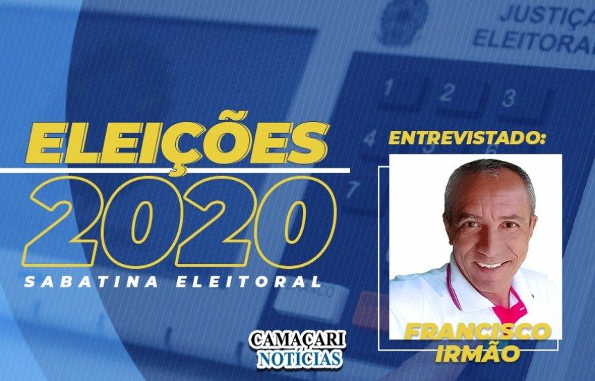 [Sabatina CN1: Francisco Irmão afirma que saúde será a prioridade da gestão]
