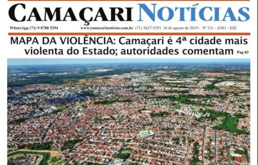 [Edição 211 do jornal impresso Camaçari Notícias destaca Mapa da Violência]
