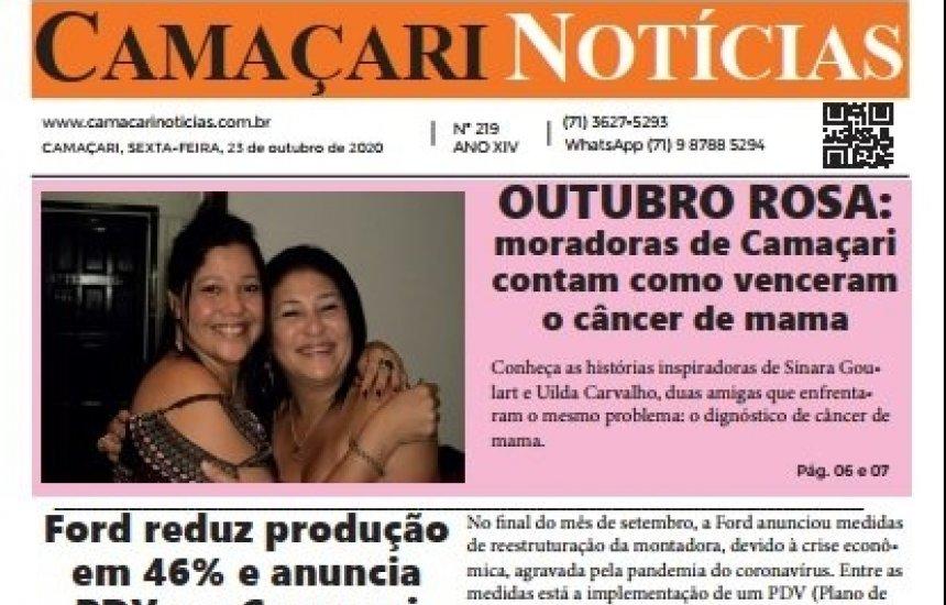 [Edição 219 do jornal impresso Camaçari Notícias traz matéria especial sobre o Outubro Rosa]