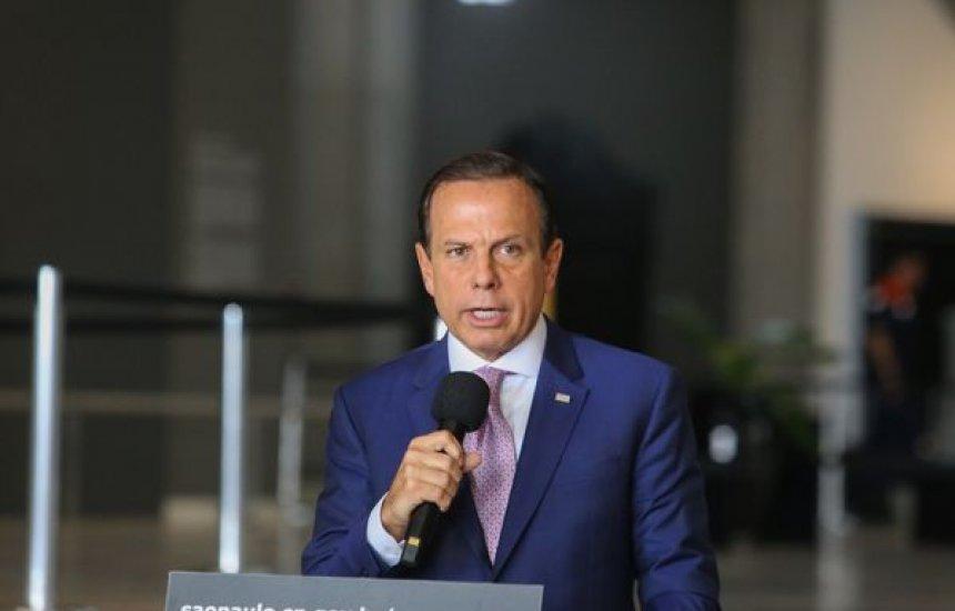 [Doria diz que governo federal não participou de liberação de insumos para Coronavac]