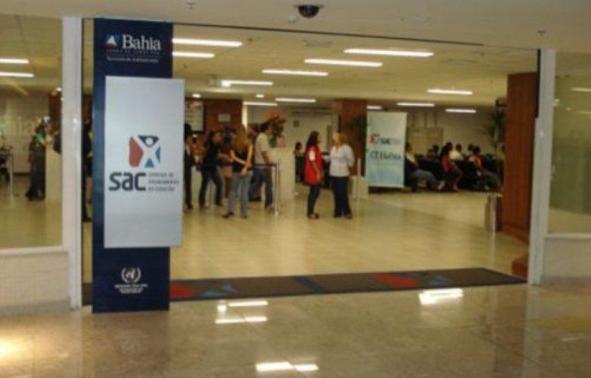 SAC passa a funcionar temporariamente aos sábados em unidades de Salvador e interior