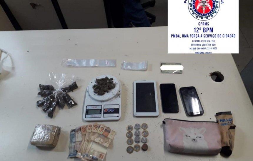 Mulher é presa por suspeita de tráfico de drogas no Phoc I
