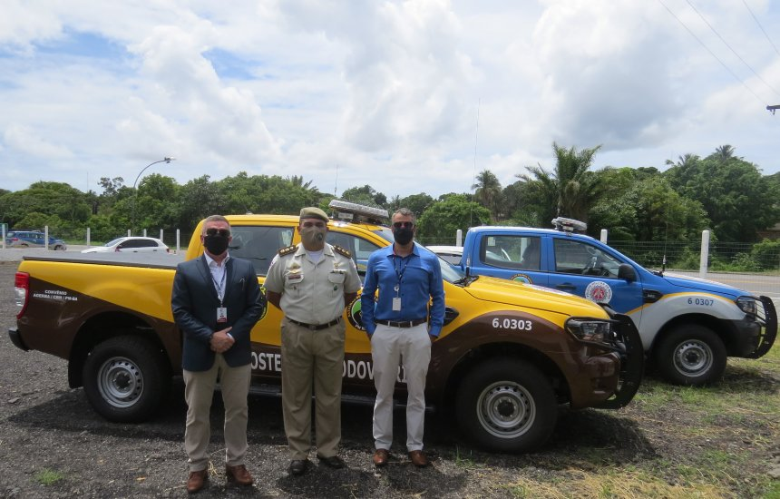 Policia Militar Rodoviária da Bahia recebe duas novas viaturas